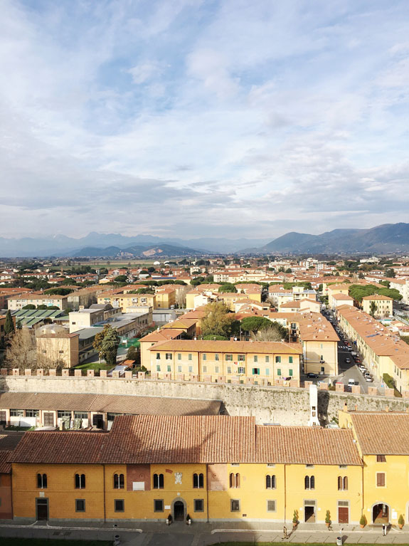 florence to pisa day trip view from top of leaning tower