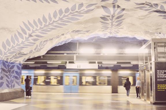 stockholm subway art tour t-centralen station