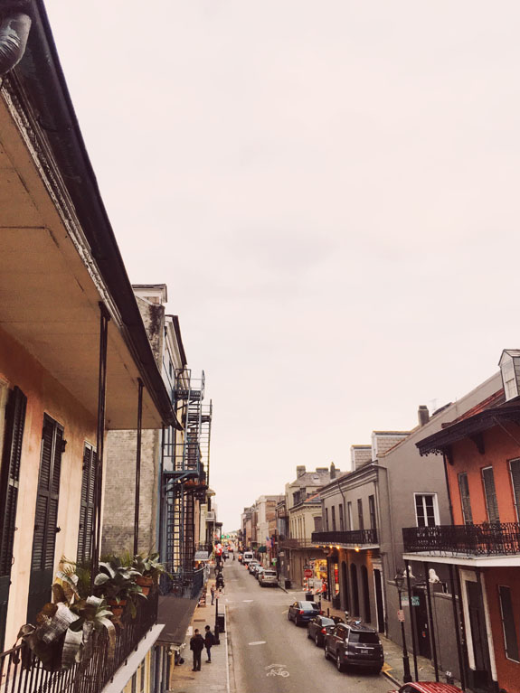 Where to Stay in New Orleans Hotel Maison de Ville balcony view