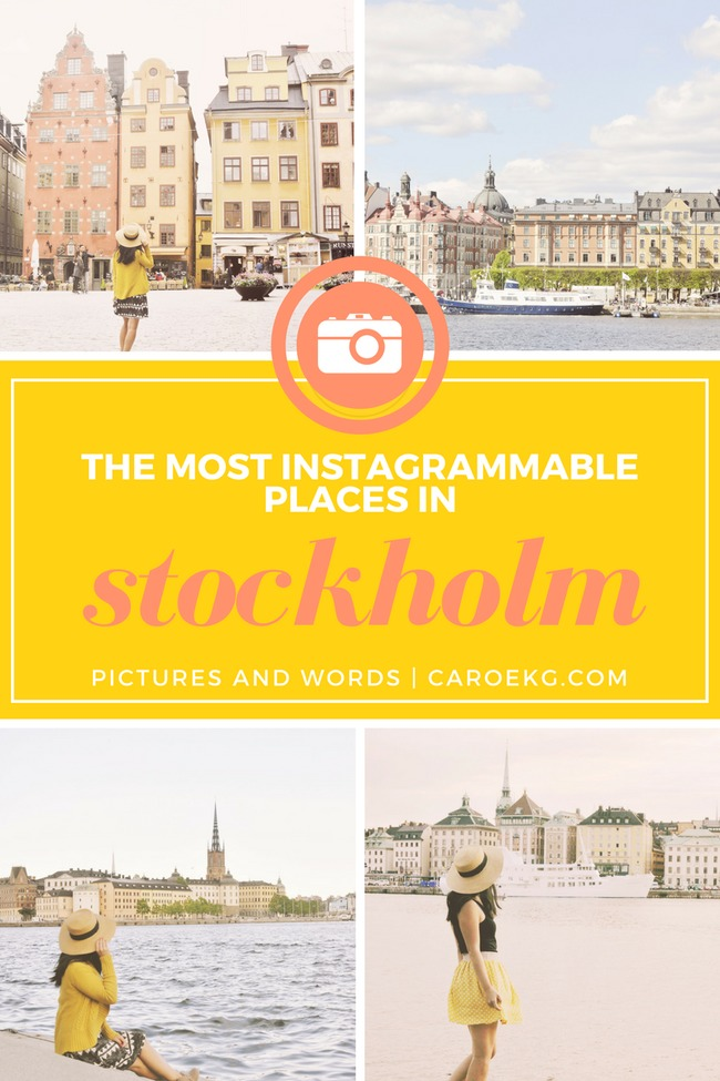 There are so many beautiful Stockholm Instagram spots - wondering where the best ones are? Check out this guide to help you find out all the best photo spots in Stockholm.  //  Stockholm Travel Guide, Stockholm City Guide, Most Instagrammable Places in Stockholm, Stockholm Photo Guide, Things to do in Stockholm, Sweden Travel