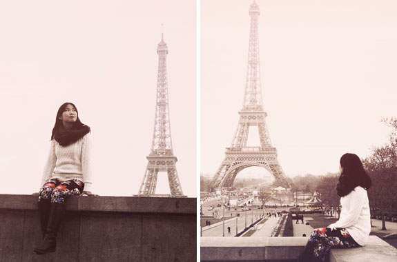 places to visit in paris in 2 days eiffel tower from trocadero