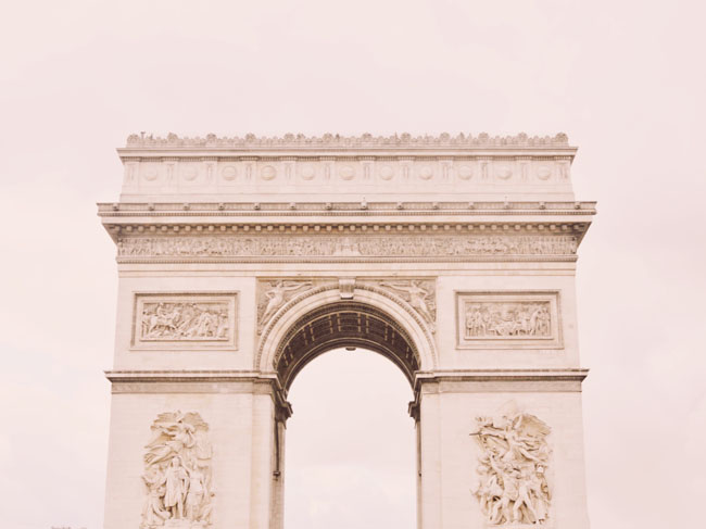 The arc de triomphe, one of the most iconic structures in Paris, and included in your Paris Museum Pass