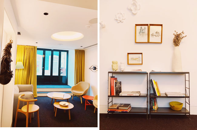 Where to stay in Lisbon - Gat Rooms Rossio - lobby area details